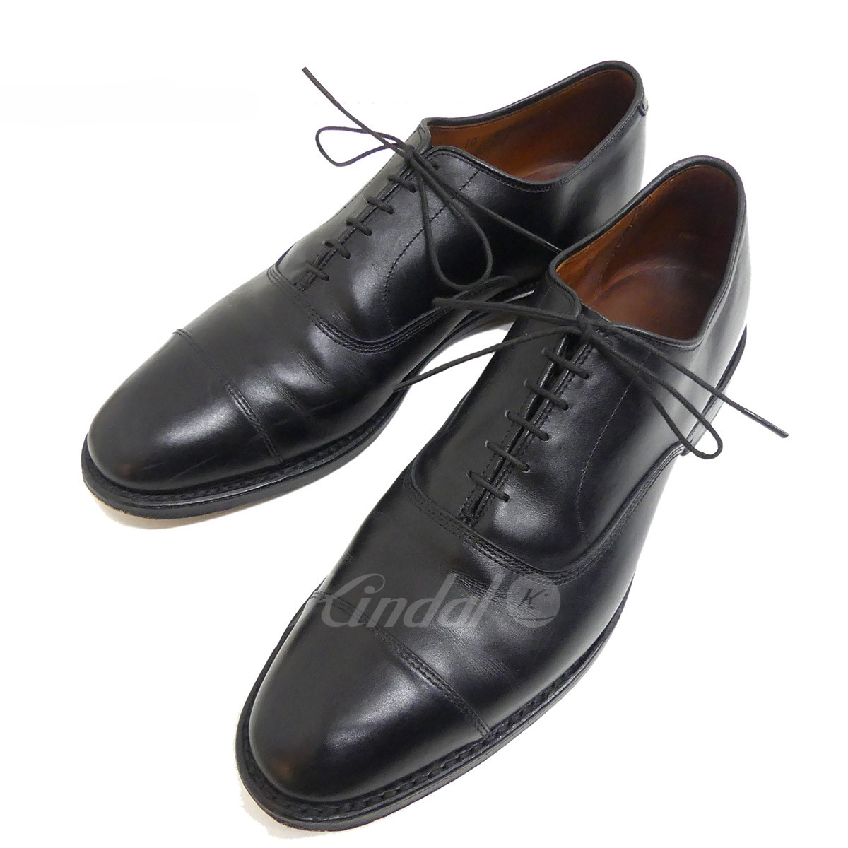 3a2536c05d8d Allen Edmonds straight tip leather shoes PARK AVENUE 5615 cap toe black  size: US10 ...