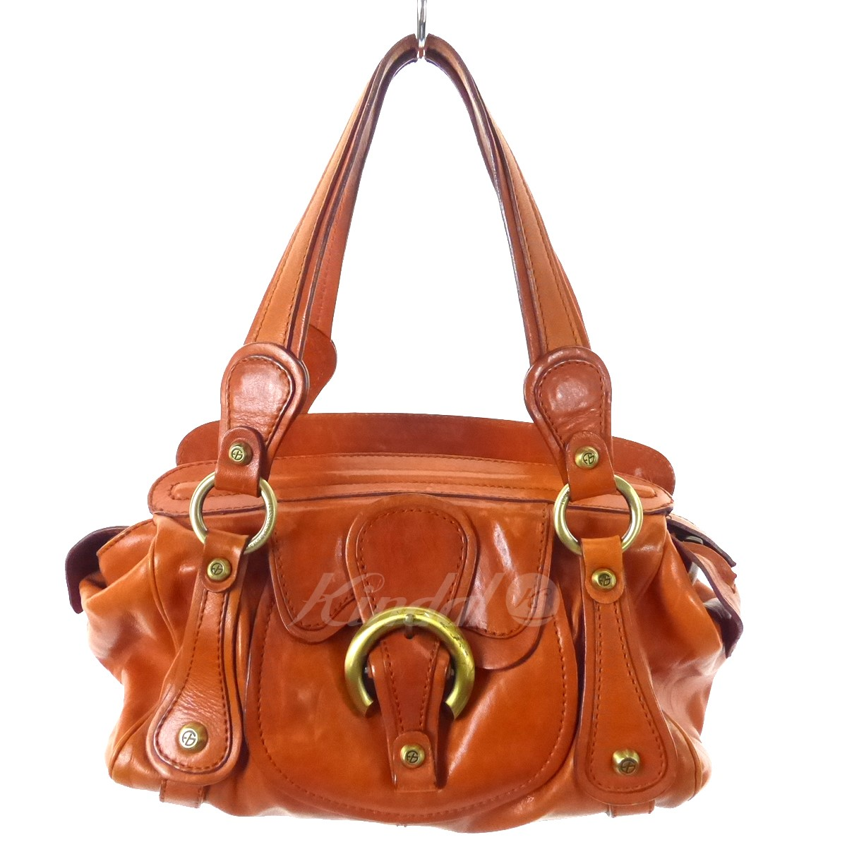 a343393cbc9e FRANCESCO BIASIA leather handbag orange brown size  - (Francesco biAsia)