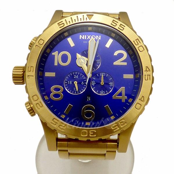 【中古】nixon 【THE 51-30 CHRONO】クォーツ腕時計 ケース:ゴールド 文字盤:ブルー系 【送料無料】 【050918】(ニクソン)