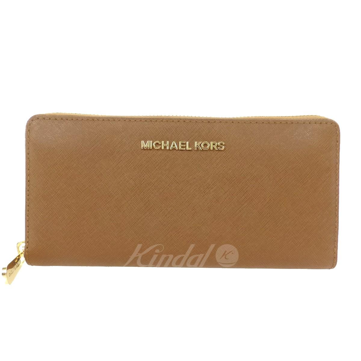 【中古】MICHAEL KORS ラウンドジップウォレット 351H3GTVZ3L キャメル サイズ:- 【送料無料】 【050918】(マイケルコース)