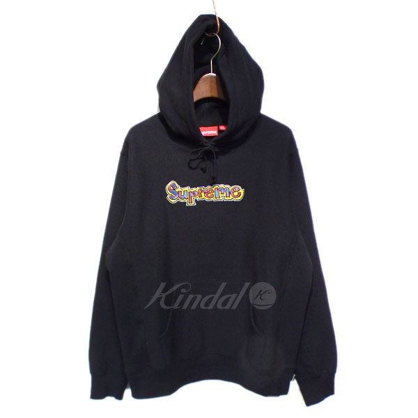 【中古】SUPREME 2018SS 「Gonz Logo Hooded Sweatshirt」プルオーバーパーカー ブラック サイズ:S 【送料無料】 【050918】(シュプリーム)