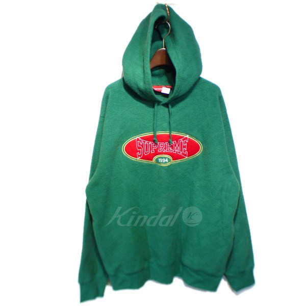 【中古】SUPREME 2018SS 「Reverse Fleece Hooded Sweatshirt」フリースパーカー グリーン サイズ:L 【送料無料】 【050918】(シュプリーム)