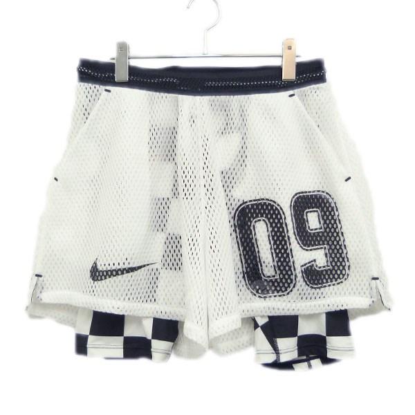 【中古】OFFWHITE×NIKE 18SS Football Collection「AWAY SHORT」メッシュショーツ 【送料無料】 【110141】 【KIND1550】
