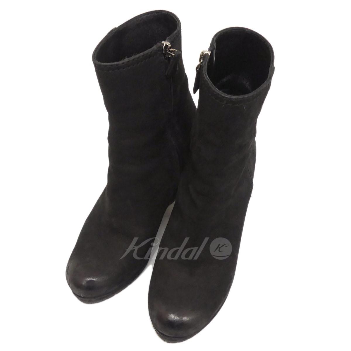 【中古】PRADA ウェッジソールブーツ ブラック サイズ:35 1/2 【送料無料】 【050918】(プラダ)