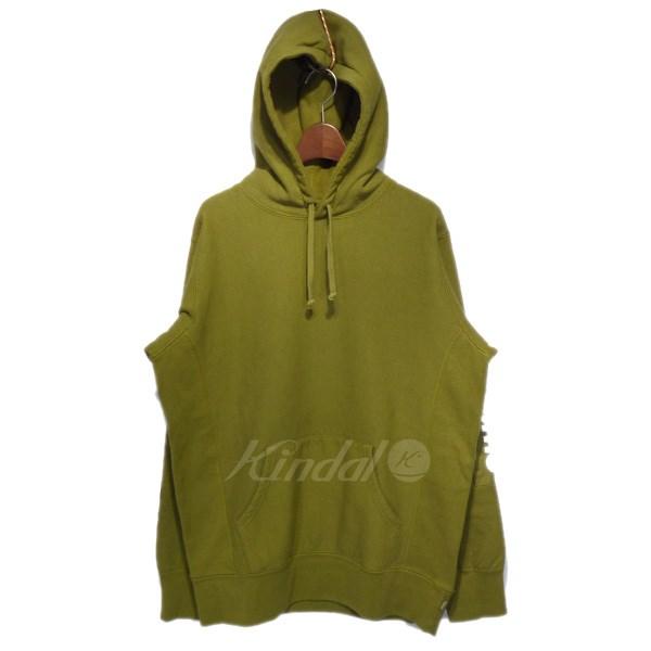 【中古】SUPREME 2017SS「sleeve patch hooded sweatshirt」スリーブパッチパーカー オリーブ サイズ:M 【送料無料】 【050918】(シュプリーム)