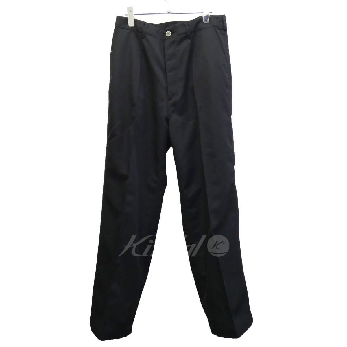 【中古】AURALEE 17AW「WOOL KERSEY WIDE PANTS」ウールカルゼワイドパンツ ブラック サイズ:5 【送料無料】 【050918】(オーラリー)