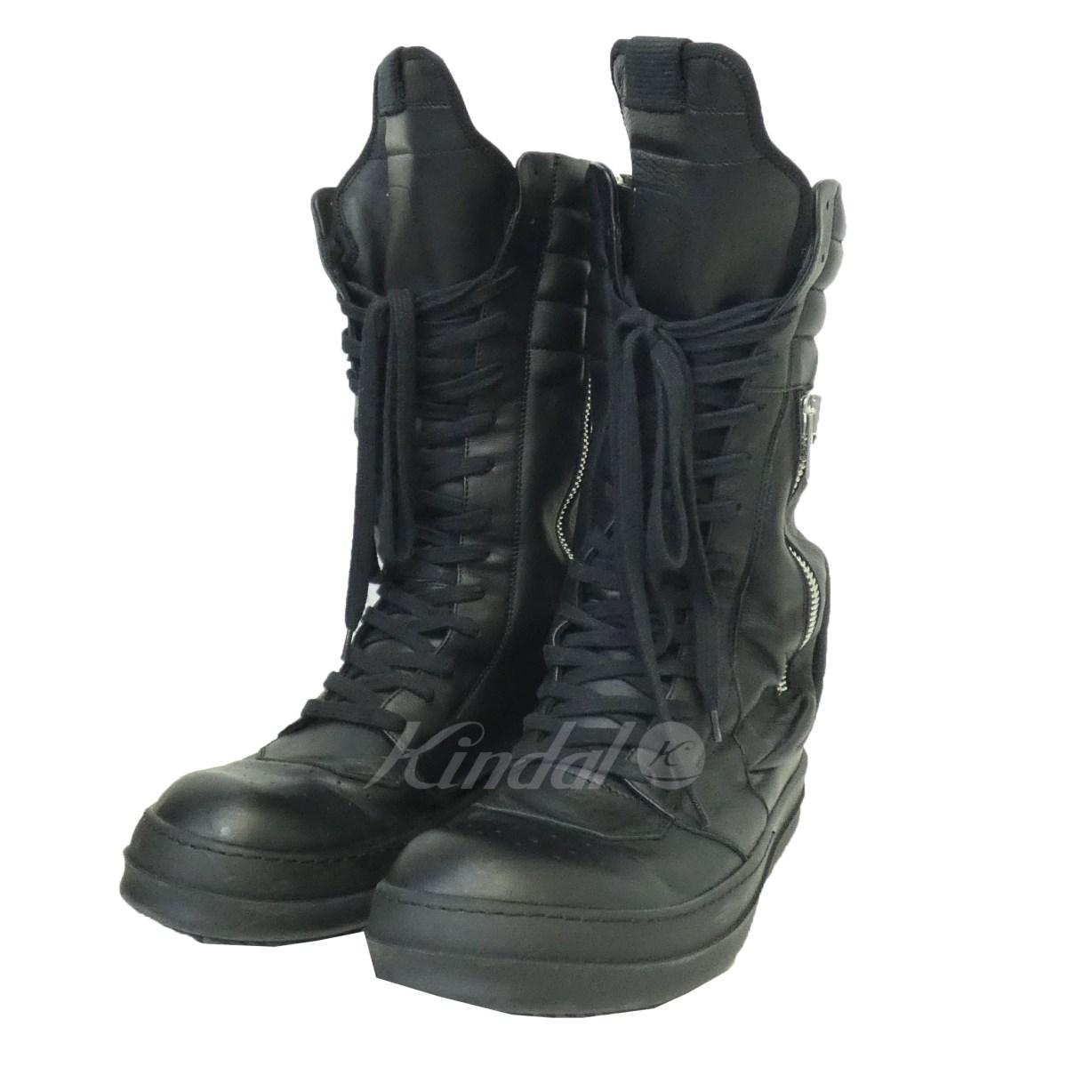 【中古】Rick Owens 15SS「CARGO BASKET BOOT」ハイカットスニーカー ブラック サイズ:41 1/2 【送料無料】 【050918】(リックオウエンス)