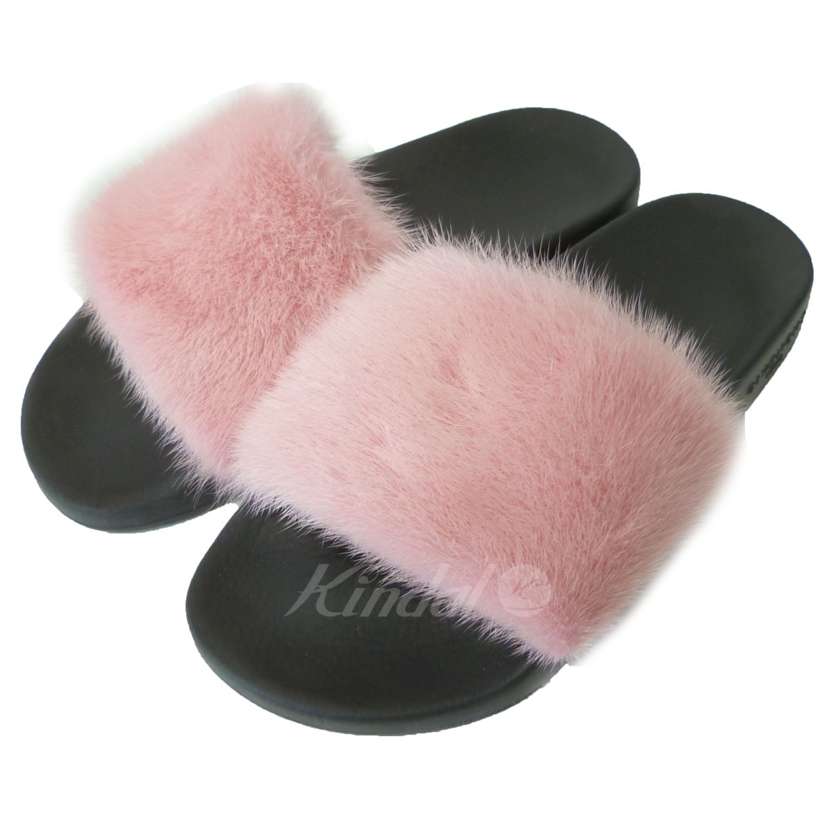84837b80d865 kindal  GIVENCHY  17AW mink  amp  rubber sandals black X pink size ...