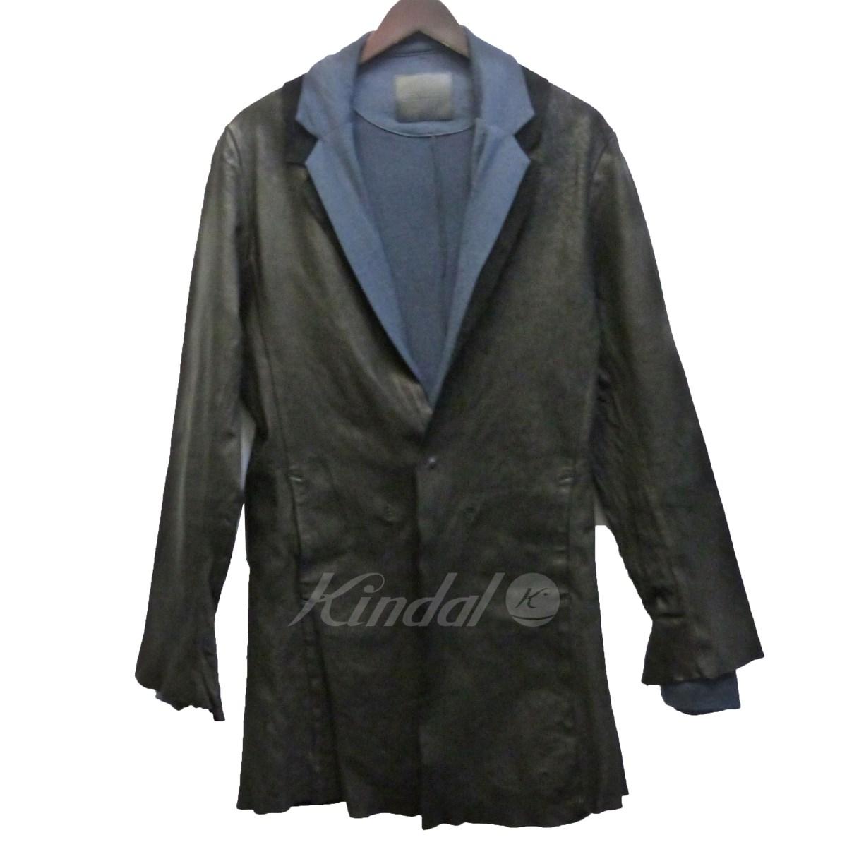 【中古】ISAMU KATAYAMA BACKLASH イタリアンホース製品染めジャケット ブラック サイズ:L 【送料無料】 【090918】(イサムカタヤマバックラッシュ)
