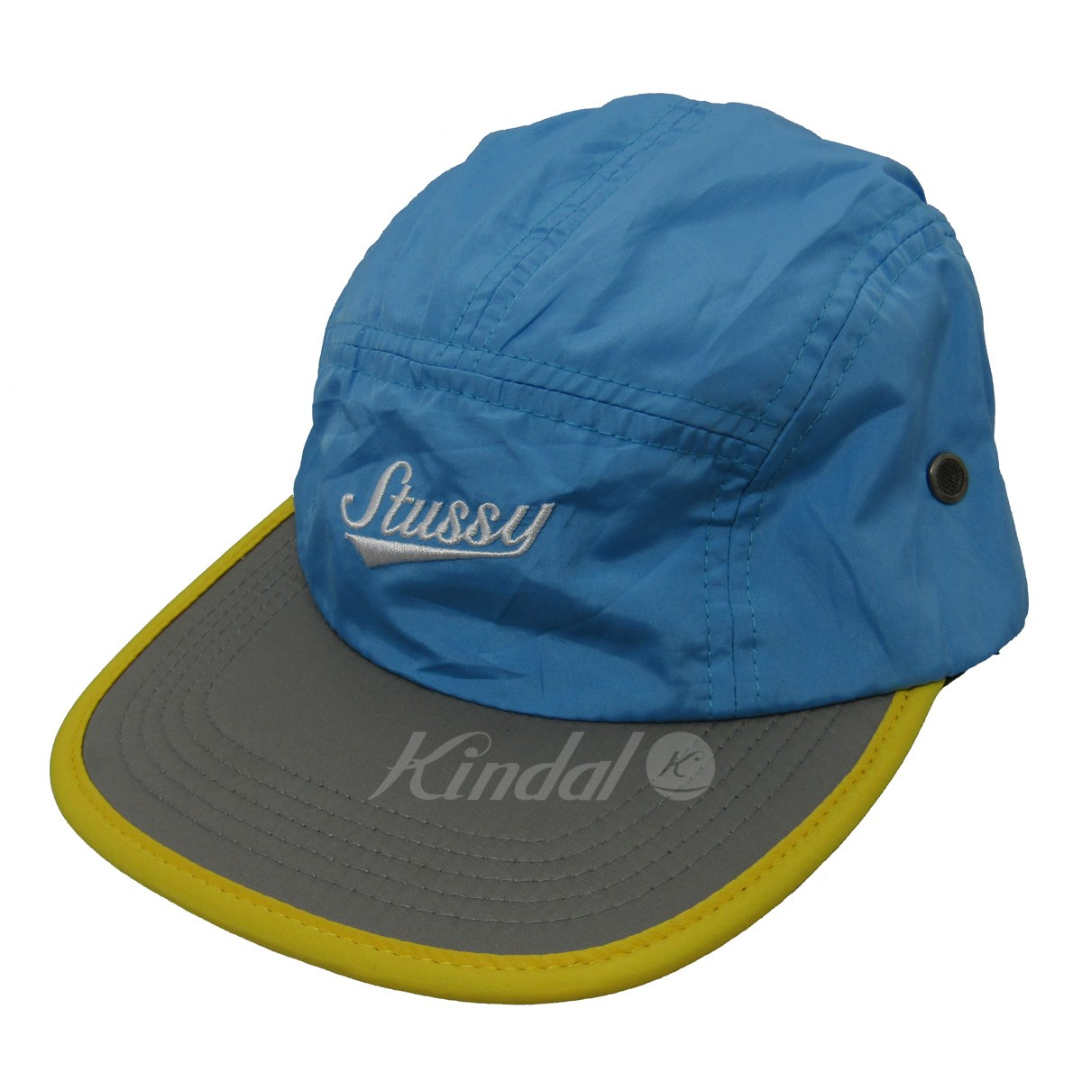kindal  Stussy logo embroidery camping cap blue size ... 8bcecbdce42