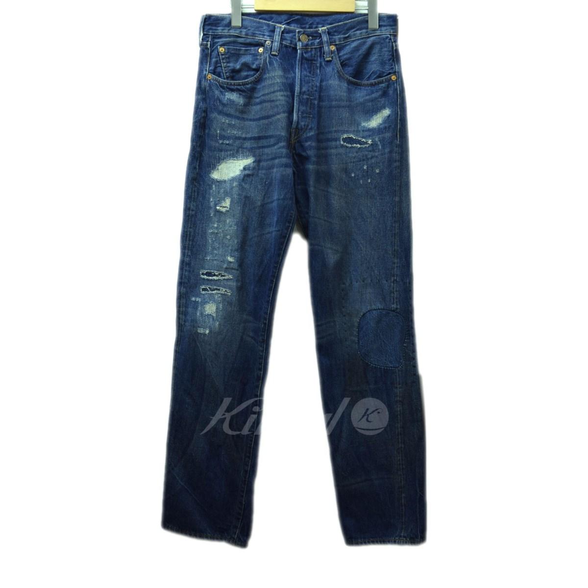 【中古】LEVIS VINTAGE CLOTHING 47501 リペア加工デニム ブルー サイズ:W31 【送料無料】 【090918】(リーバイスヴィンテージクロージング)