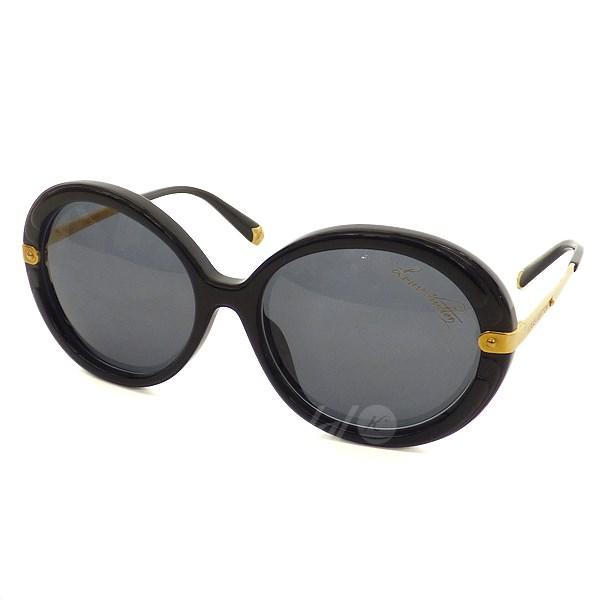 【中古】LOUIS VUITTON 【ANTHEA】サングラス ブラック/ゴールド 【送料無料】 【110918】(ルイヴィトン)