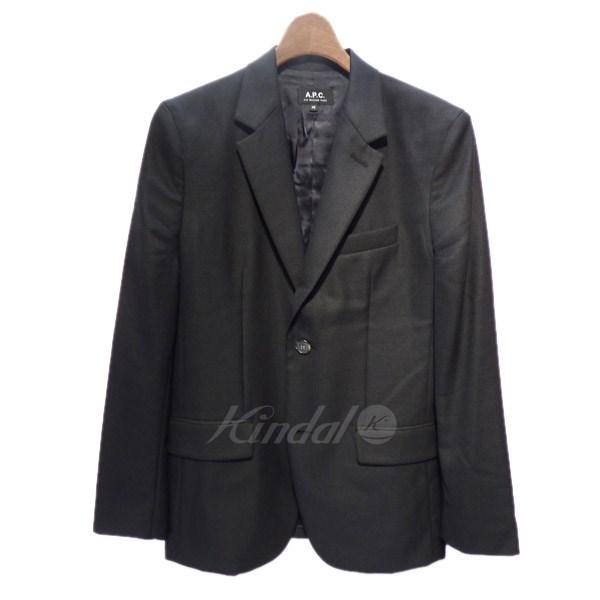 【4月18日 お値段見直しました】【中古】A.P.C.2017SS テーラードジャケット ブラック サイズ:XS