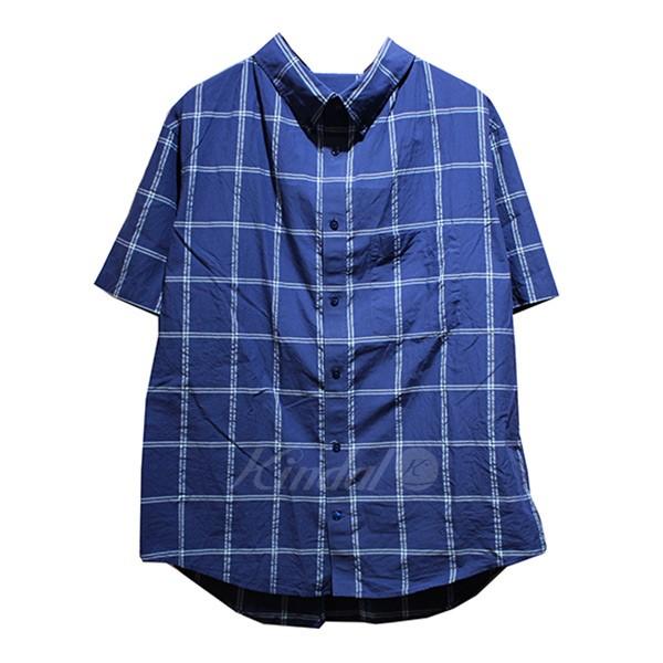 【中古】BALENCIAGA 2018SS プロフィールカラーシャツ ブルー サイズ:38 【送料無料】 【120918】(バレンシアガ)