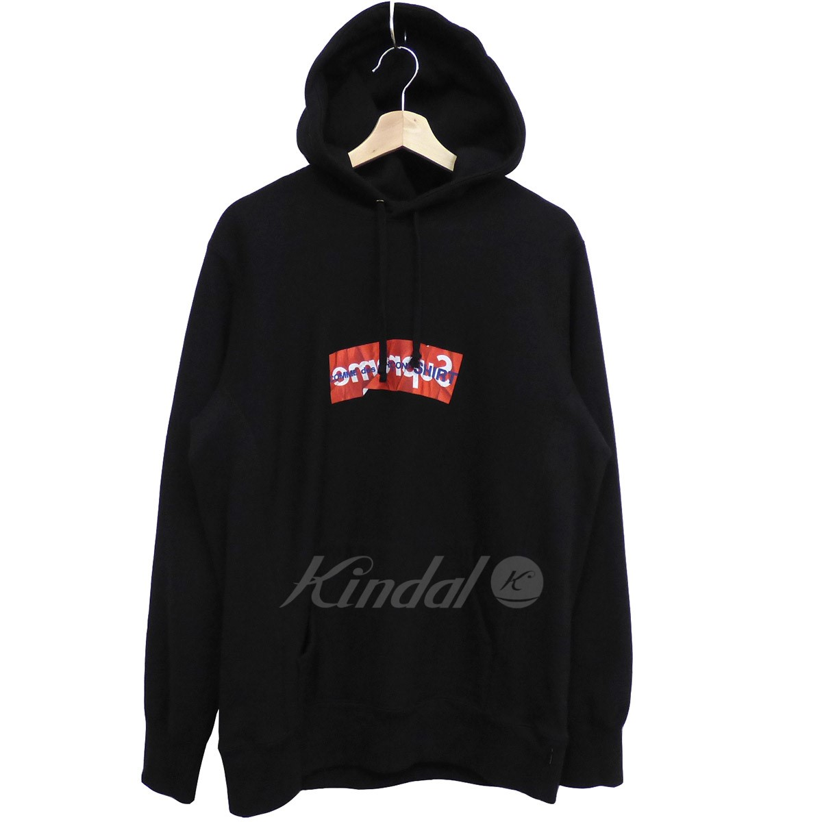 【中古】SUPREME×COMME des GARCONS 17SS Box Logo hooded Sweatshirtボックスロゴパーカー 【送料無料】 【000516】 【KIND1550】