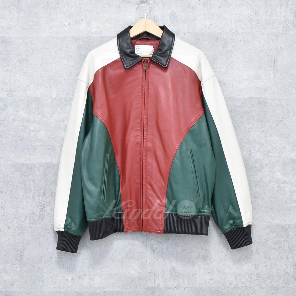 【中古】SUPREME 18SS レザージャケット studded arc logo leather jacket 【送料無料】 【221309】 【KIND1550】