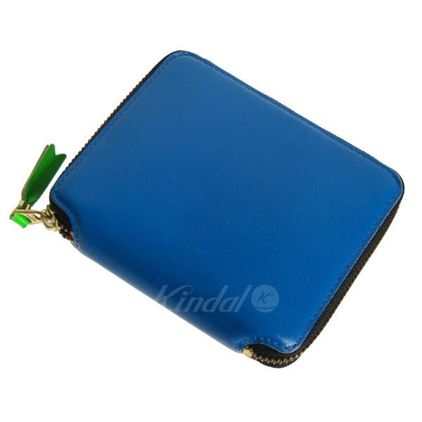 【中古】Wallet COMME des GARCONS マルチカラーラウンドジップ2つ折り財布 ブルー サイズ:- 【送料無料】 【130918】(ウォレットコムデギャルソン)