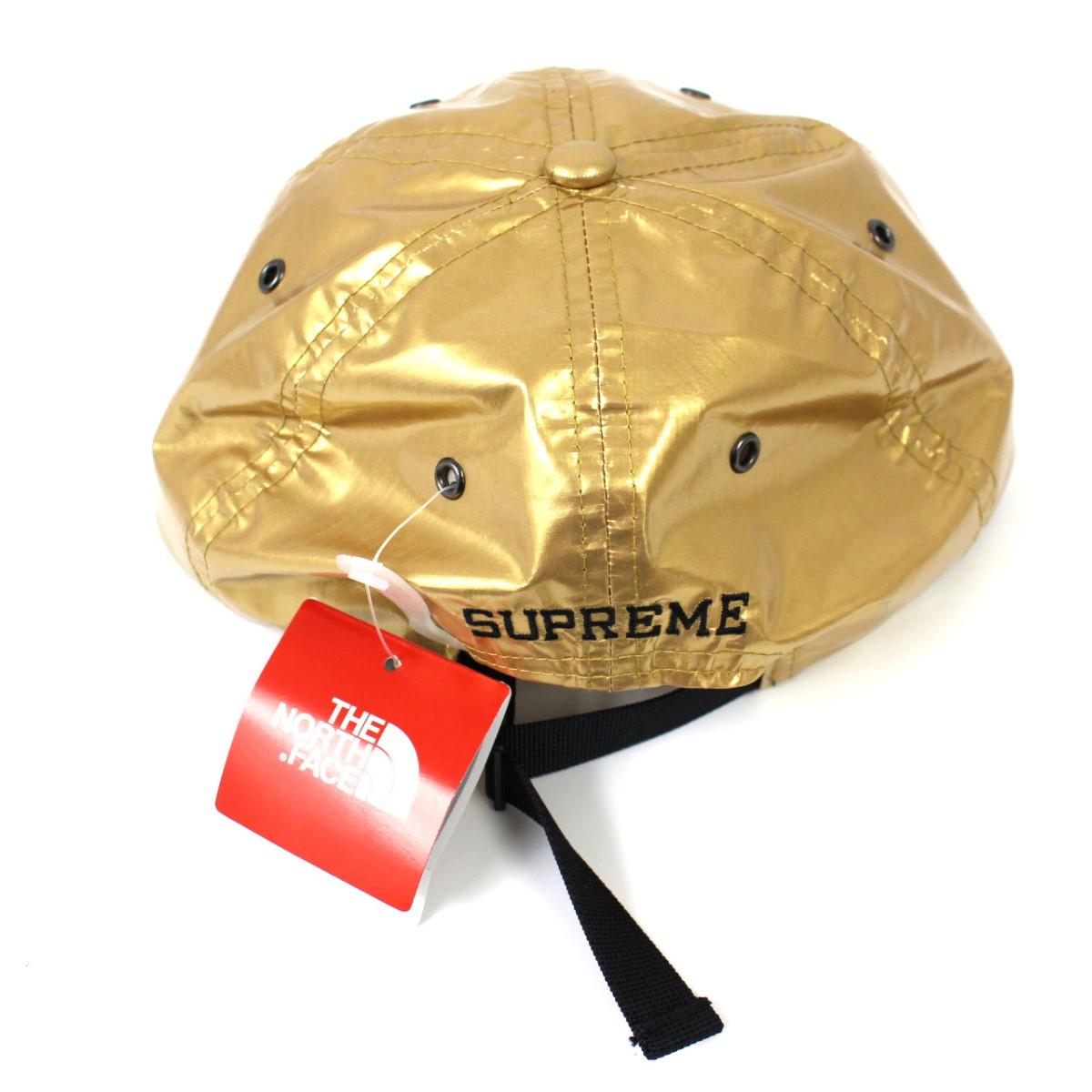 15ca5f5bfee14 Supreme X The North Face Metallic 6-Panel Cap 2018SS NN418051 metallic cap  hat gold metallic size  F