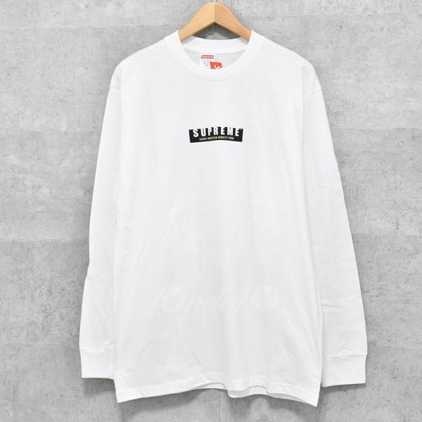 【中古】SUPREME 2018AW 1994 L/S Tee ロゴロングTシャツ ホワイト サイズ:M 【送料無料】 【140918】(シュプリーム)