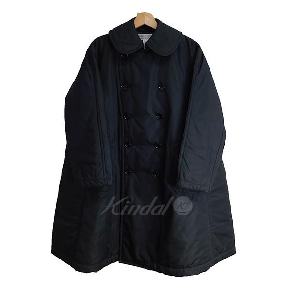 【中古】COMME des GARCONS COMME des GARCONS 丸襟中綿キルティンコート ブラック サイズ:XS 【送料無料】 【160918】(コムデギャルソンコムデギャルソン)