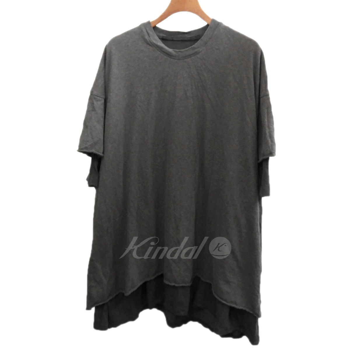【中古】JULIUS 2018AW「CO/CU JERSEY LAYERED DOUBLE T-SHIRT」カットソー 【送料無料】 【124828】 【KIND1550】