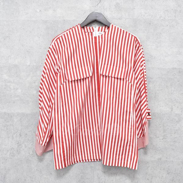 【中古】TOGA 16AW ストライプ ノーカラーシャツ 【送料無料】 【196263】 【KIND1550】