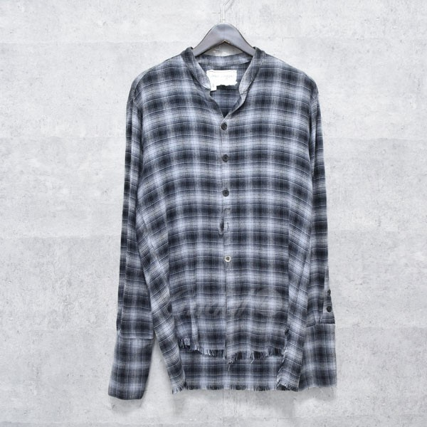 【中古】GREG LAUREN Flannel Studio Shirt チェックシャツ 【送料無料】 【222023】 【KIND1550】