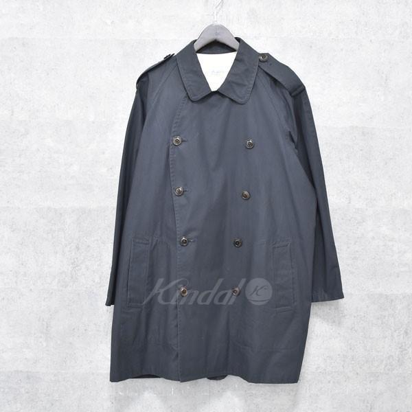 【中古】The crooked Tailor トレンチコート ネイビー サイズ:44 【送料無料】 【160918】(ザクルーキットテーラー)