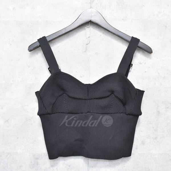 【中古】AKIRA NAKA Rib knit bra long 肩ベルトニットトップス ブラック サイズ:FREE 【送料無料】 【160918】(アキラナカ)