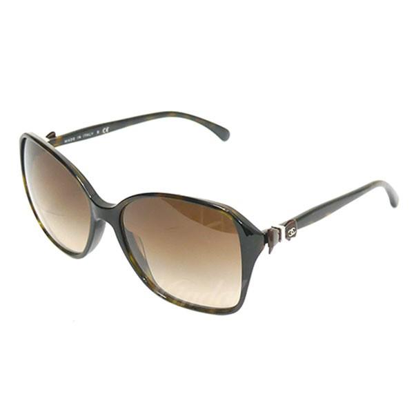 【中古】CHANEL 5205-A リボンデザイン サングラス 眼鏡 ブラウン サイズ:58□16 【送料無料】 【170918】(シャネル)