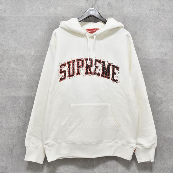 【中古】SUPREME 18AW Water Arc Hooded Sweatshirt アーチロゴプルオーバーパーカー ホワイト サイズ:L 【送料無料】 【170918】(シュプリーム)
