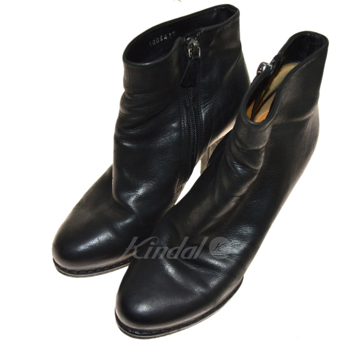 【中古】ROBERTO DEL CARLO ショートブーツ ブラック サイズ:38 【送料無料】 【180918】(ロベルト・デル・カルロ)