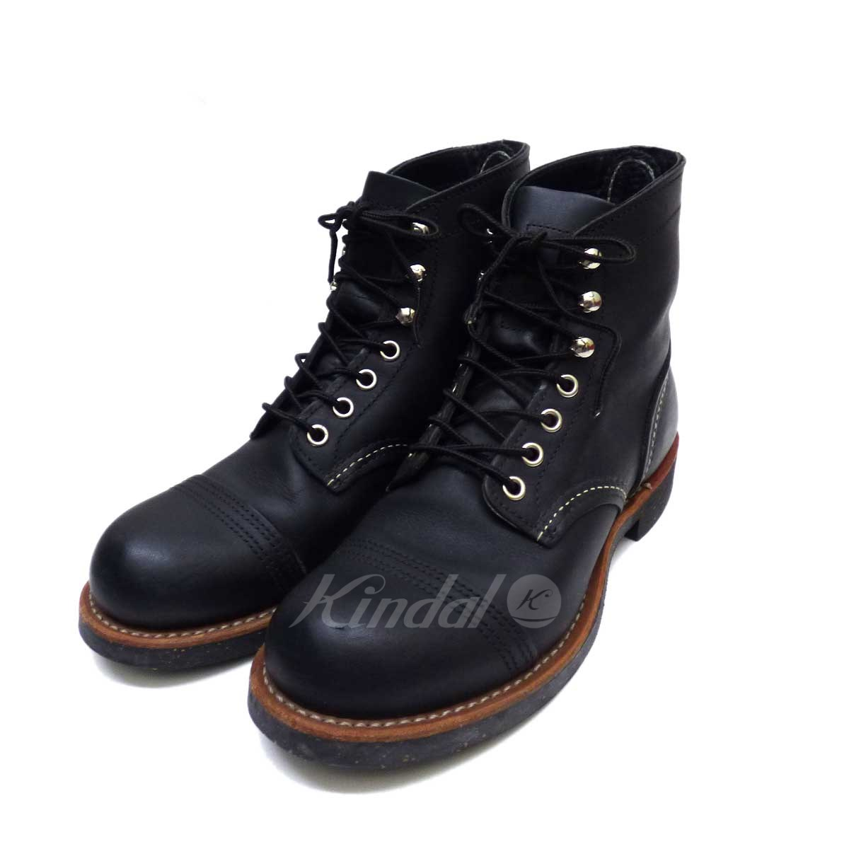 【中古】RED WING レザーブーツ 8114 ブラック サイズ:23.0 【送料無料】 【180918】(レッドウィング)