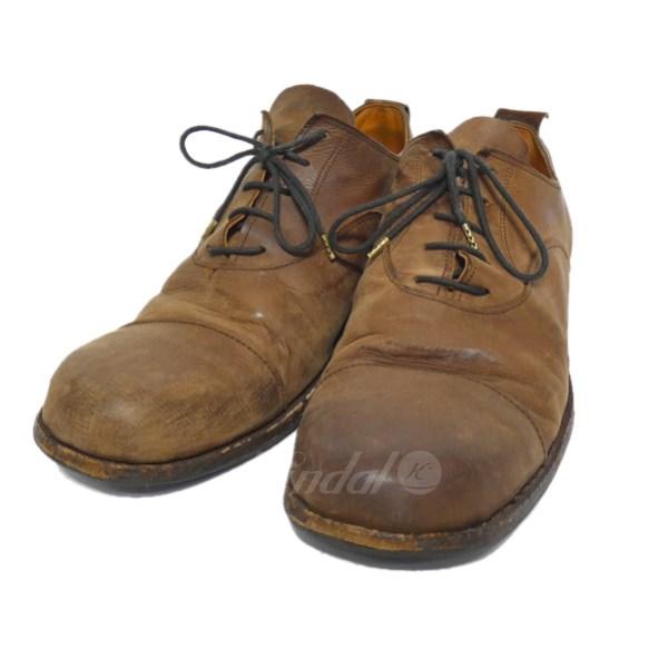 【中古】PAUL HARNDEN 「Oxford Shoe」レザーシューズ ブラウン サイズ:7 1/2 【送料無料】 【180918】(ポールハーデン)