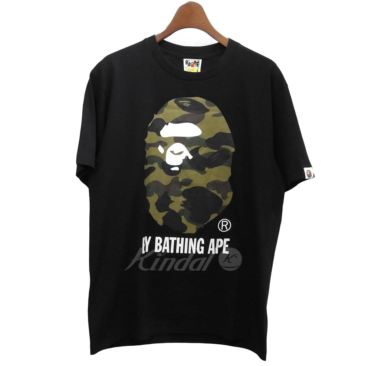 【中古】A BATHING APE 「1st Camo By Bathing Tee」1stカモビッグエイプヘッドTシャツ ブラック サイズ:M 【送料無料】 【190918】(アベイシングエイプ)