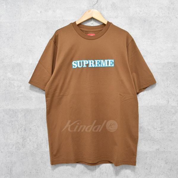 【中古】SUPREME 18AW Floral Logo Tee フローラルロゴTシャツ ブラウン サイズ:M 【送料無料】 【190918】(シュプリーム)
