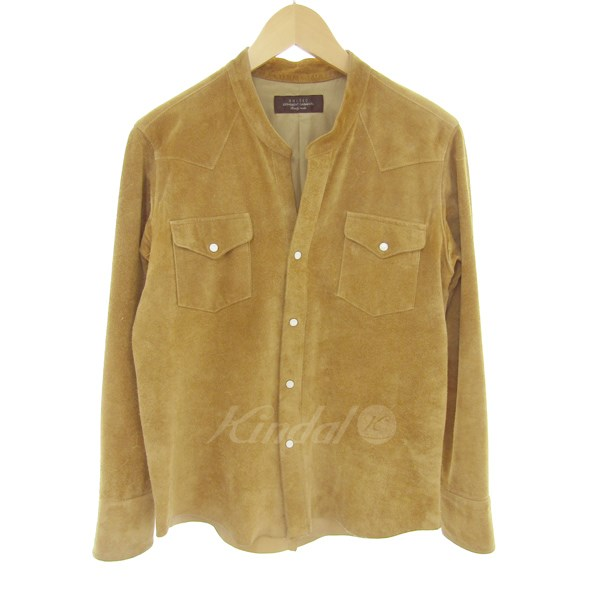 【中古】UNUSED2015SS WESTERN SHIRT COW SUEDE 【送料無料】 【001870】 【KIND1500】