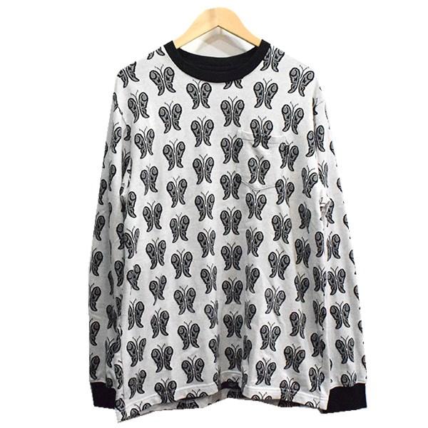 【中古】SUPREME 18SS Butterfly Jacguard Top ロングスリーブTシャツ ブラック サイズ:M 【送料無料】 【190918】(シュプリーム)