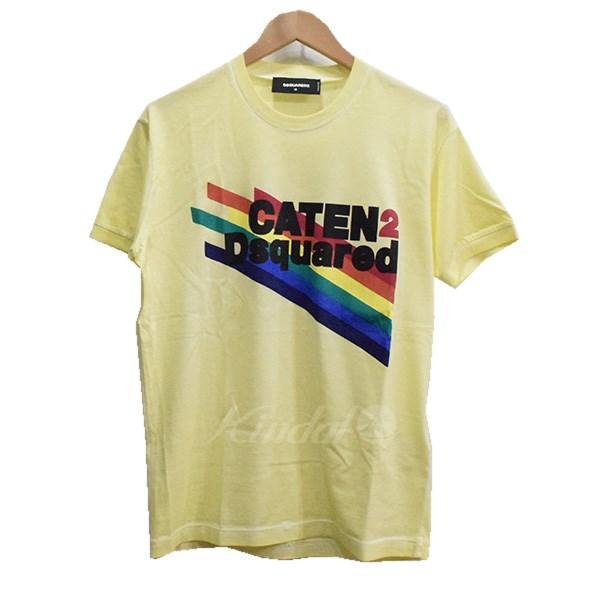 【中古】DSQUARED2 18SS CATEN ロゴ プリント Tシャツ イエロー サイズ:M 【送料無料】 【190918】(ディースクエアード)