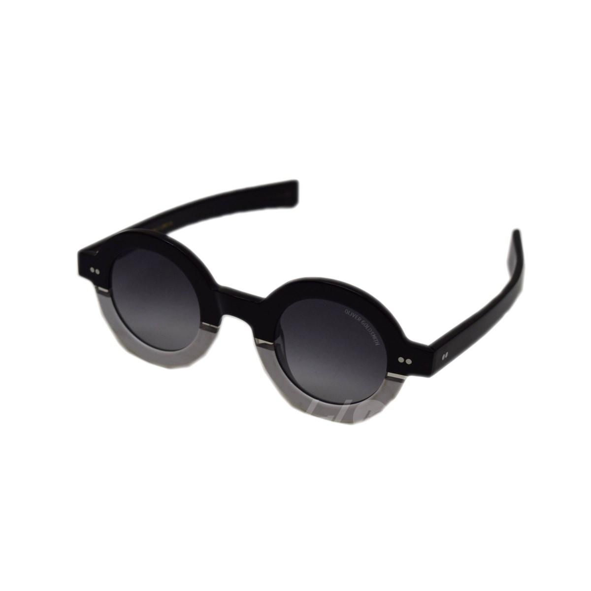 6ab384d2a7f OLIVER GOLDSMITH xDECADES 1930S round sunglasses black x white size  - (Oliver  Goldsmith)