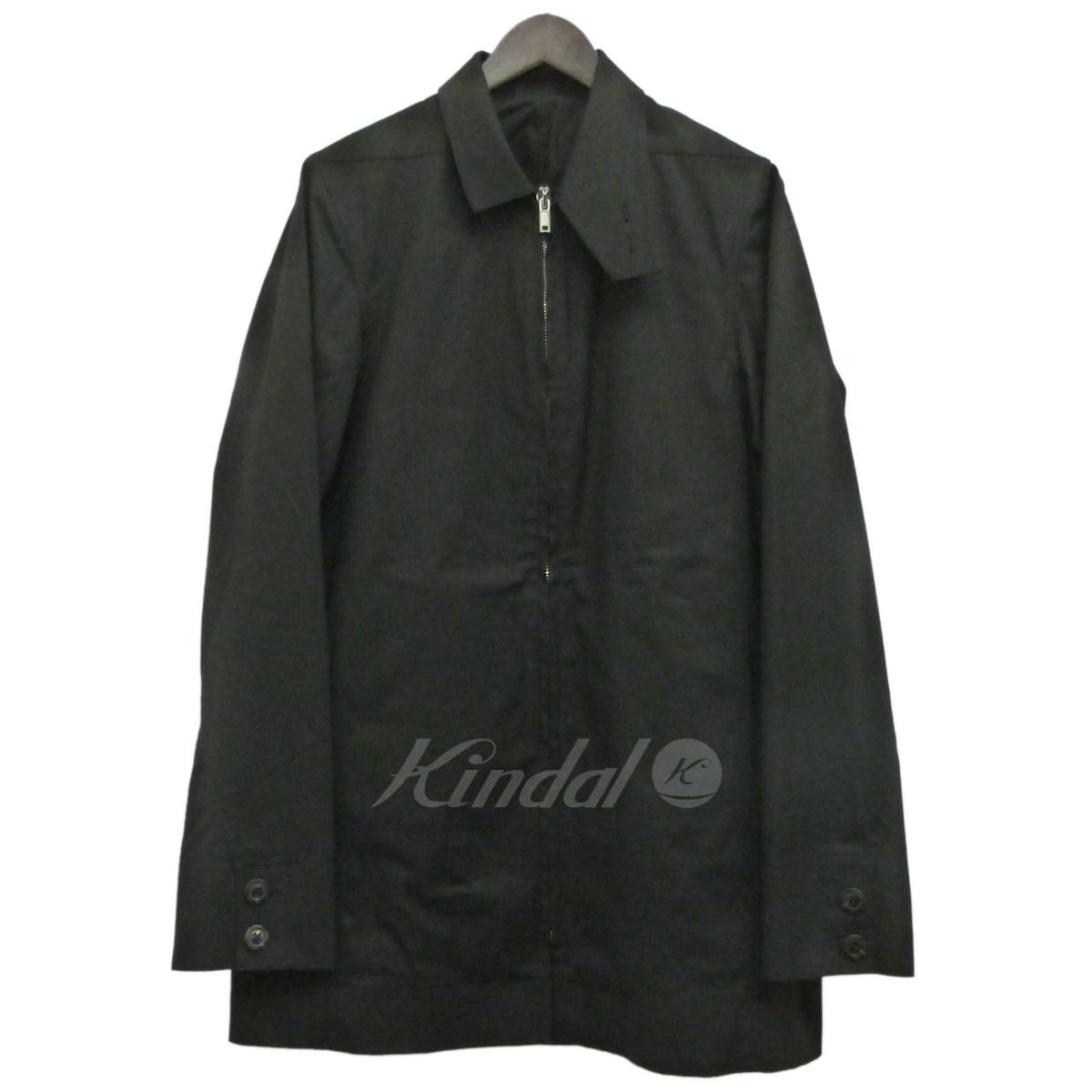 【中古】Rick Owens 17SS襟付きジップアップロングジャケット ブラック サイズ:46 【送料無料】 【210918】(リックオウエンス)