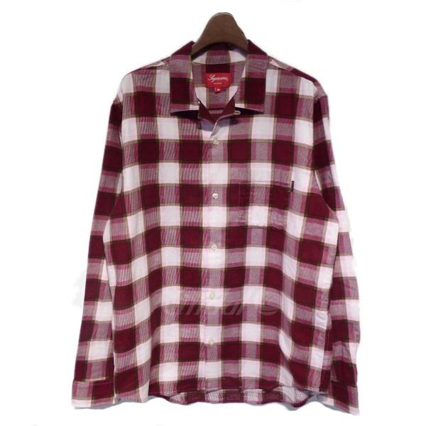 【中古】SUPREME フランネルチェックシャツ 【送料無料】 【023262】 【KIND1550】