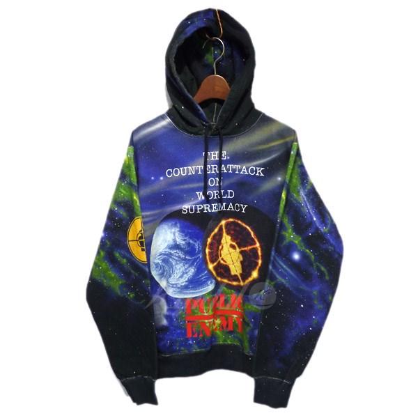 【中古】Supreme x UNDERCOVER 2018SS Public Enemy Hooded Sweatshirt プルオーバーパーカー ブラック サイズ:S 【送料無料】 【210918】(シュプリーム アンダーカバー)