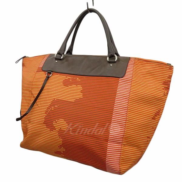 【中古】JIL SANDER デザイントートバッグ オレンジ 【送料無料】 【240918】(ジルサンダー)