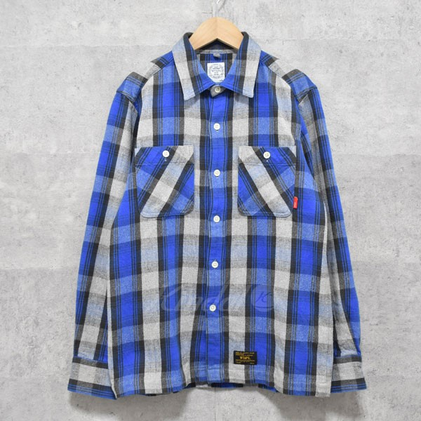 【中古】W)taps チェックシャツ UNION L/S 01 【送料無料】 【175640】 【KIND1550】