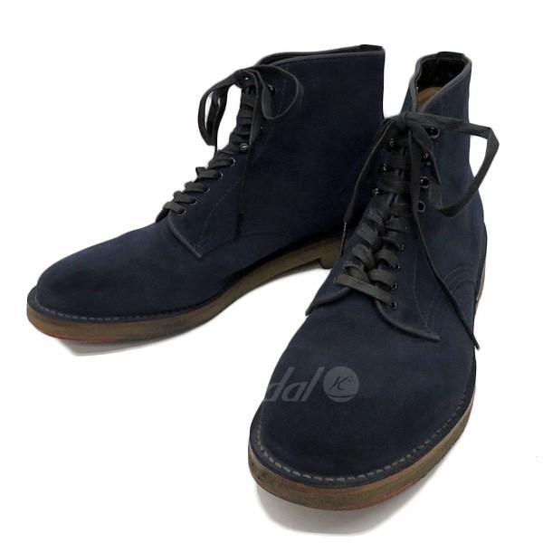 【中古】PHIGVEL MAKERS Officers Boots SANDINISTA別注 レースアップブーツ ネイビー サイズ:8 1/2 【送料無料】 【240918】(フィグベルメイクス)
