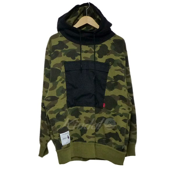 【中古】WTAPS×A BATHING APE 2017AW SEAL SWEAT SHIRT パーカー 【送料無料】 【032525】 【KIND1550】