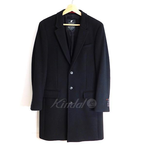 【中古】LOVELESS メルトンチェスターコート ブラック サイズ:M 【送料無料】 【260918】(ラブレス)