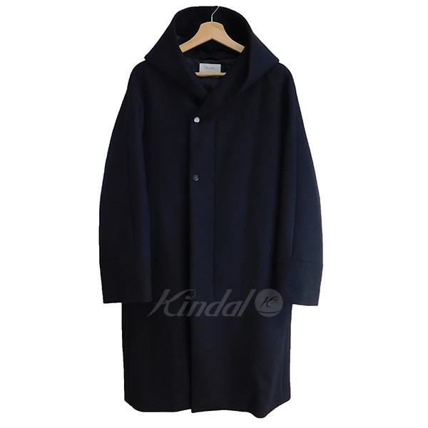 【中古】STUDIOUS ダブルクロスメルトンフードコート ブラック サイズ:2 【送料無料】 【260918】(ステュディオス)