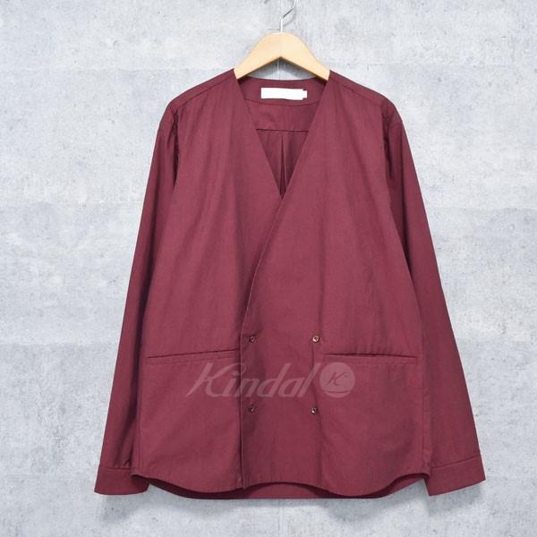 【中古】ETHOSENS シャンブレーダブルブレストシャツ ボルドー サイズ:1 【送料無料】 【260918】(エトセンス)